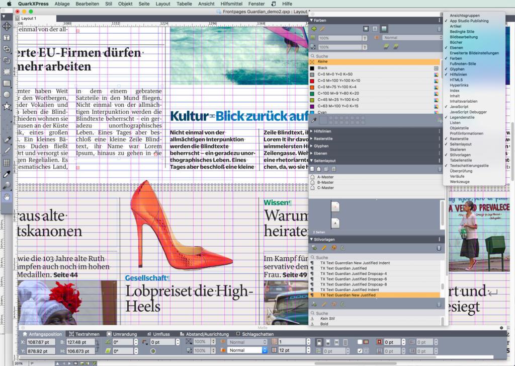 In QuarkXPress 2018 ist ein Importfilter integriert, welcher IDML-Dateien aus InDesign CS5 und höher öffnen kann